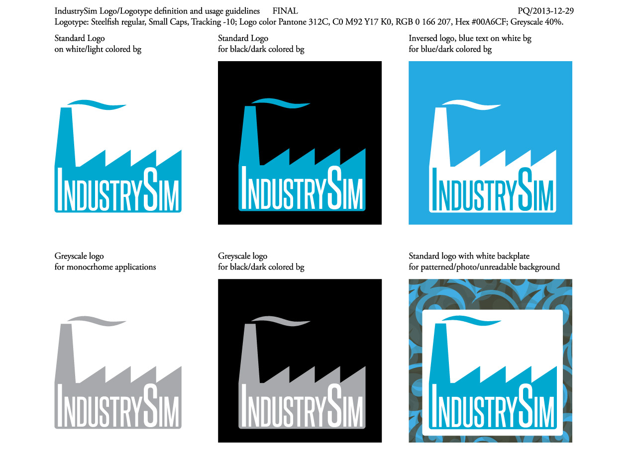 IndustrySim Ltd. logotypes and logo guidelines